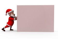 3d santa claus push concept Royalty Free Stock Images