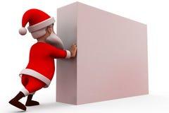 3d santa claus push concept Stock Image