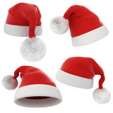 3d Santa Claus red hat Royalty Free Stock Images