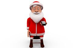3d santa claus with remote concept Stock Photography