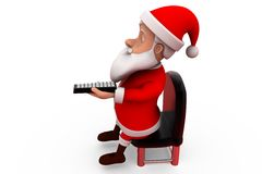 3d santa claus with remote concept Stock Image