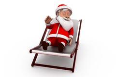 3d santa claus rest concept Stock Photos
