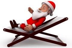 3d santa claus rest concept Stock Photography