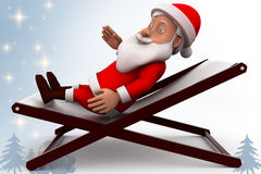 3d santa claus rest illustration Stock Photos