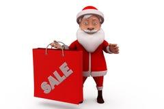 3d santa claus sale concept Stock Photos