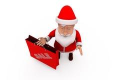 3d santa claus sale concept Royalty Free Stock Image