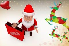 3d santa claus sale illustration Stock Photos