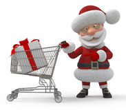 3d Santa Claus in shop Royalty Free Stock Photo