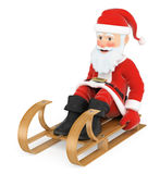 3D Santa Claus sleigh riding Royalty Free Stock Photography