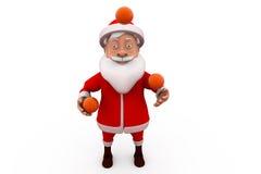 3d Santa Claus som jonglerar begrepp Royaltyfria Foton