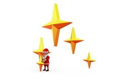 3d santa claus stars concept Stock Photography