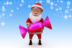 3d santa claus sweet candy illustration Royalty Free Stock Photo