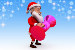 3d santa claus sweet candy illustration Stock Image