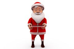 3d santa claus tablet concept Royalty Free Stock Photo