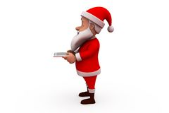 3d santa claus tablet concept Stock Photo