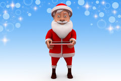 3d santa claus tablet illustration Royalty Free Stock Photos