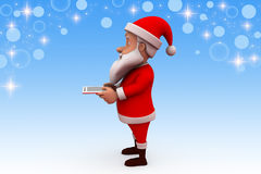 3d santa claus tablet illustration Royalty Free Stock Photography