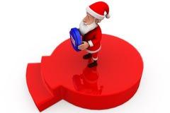 3d Santa Claus tak pojęcie Obraz Stock