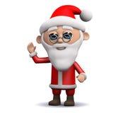 3d Santa Claus vinkar hälsningar Arkivbild