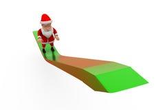 3d Santa Claus w górę strzałkowatego pojęcia Zdjęcia Royalty Free