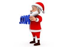 3d santa .com concept Royalty Free Stock Photos