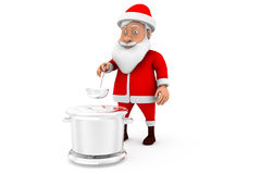 3d santa cooking concept Stock Images