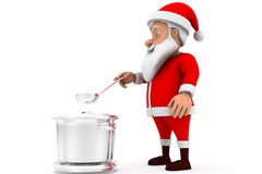 3d santa cooking concept Royalty Free Stock Images