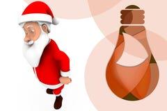 3d santa dance  illustration Stock Image