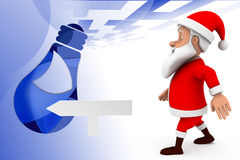 3d santa dance  illustration Royalty Free Stock Image