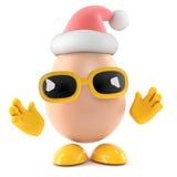 3d Santa Egg Royaltyfri Fotografi