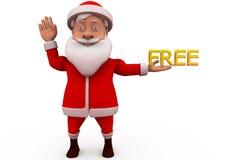 3d santa free concept Stock Image