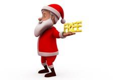3d santa free concept Royalty Free Stock Photos