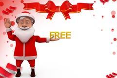 3d santa free illustration Royalty Free Stock Photos