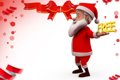 3d santa free illustration Royalty Free Stock Images