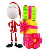 3d Santa with gift box Royalty Free Stock Images