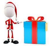 3d Santa with gift box Stock Photo
