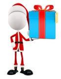 3d Santa with gift box Royalty Free Stock Photo