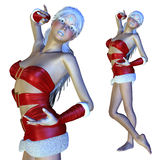 3d Santa girl Royalty Free Stock Images
