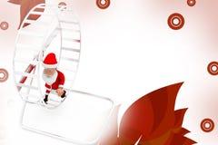 3d santa hamster wheel  illustration Stock Photo