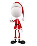 3d Santa with handshake pose. White Santa with handshake pose Royalty Free Stock Photography