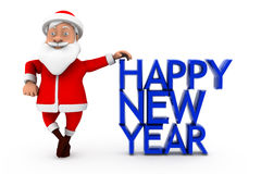 3d santa happy new year concept Royalty Free Stock Images