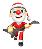 3D Santa has to be playing the Black electric guitar. 3D Christm Stock Photography