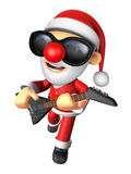 3D Santa has to be playing the electric guitar. 3D Christmas Cha Royalty Free Stock Photo