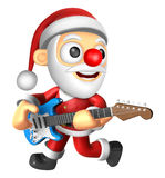 3D Santa has to be playing the electric guitar. 3D Christmas Cha Stock Images