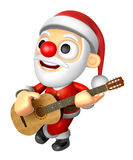 3D Santa has to be playing the guitar. 3D Christmas Character De Stock Images