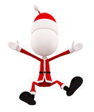 3d santa for jumping pose Stock Photos