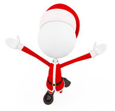 3d santa with jumping pose Royalty Free Stock Images