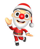 3D Santa mascot Happy playing dance. 3D Christmas Character Desi Stock Photo