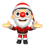 3D Santa mascot has been welcomed with both hands. 3D Christmas Stock Images