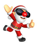 3D Santa mascot the left hand guides and the right hand best ges Stock Images
